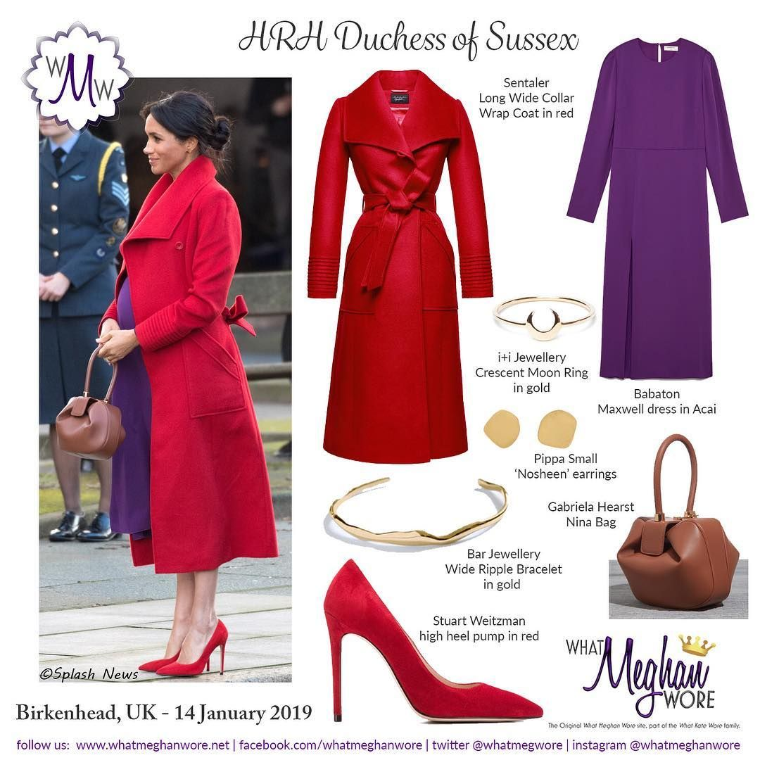 """be68033ff63 what meghan wore on Instagram  """"A POP of colour in Birkenhead on 14th  January! All the details on our site - link in profile ⤴ ."""