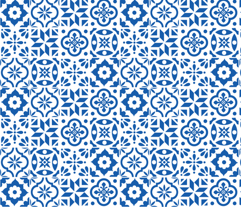 Spanish Tile Pattern Larger Size Fabric By Elizajanecurtis On Fascinating Spanish Patterns