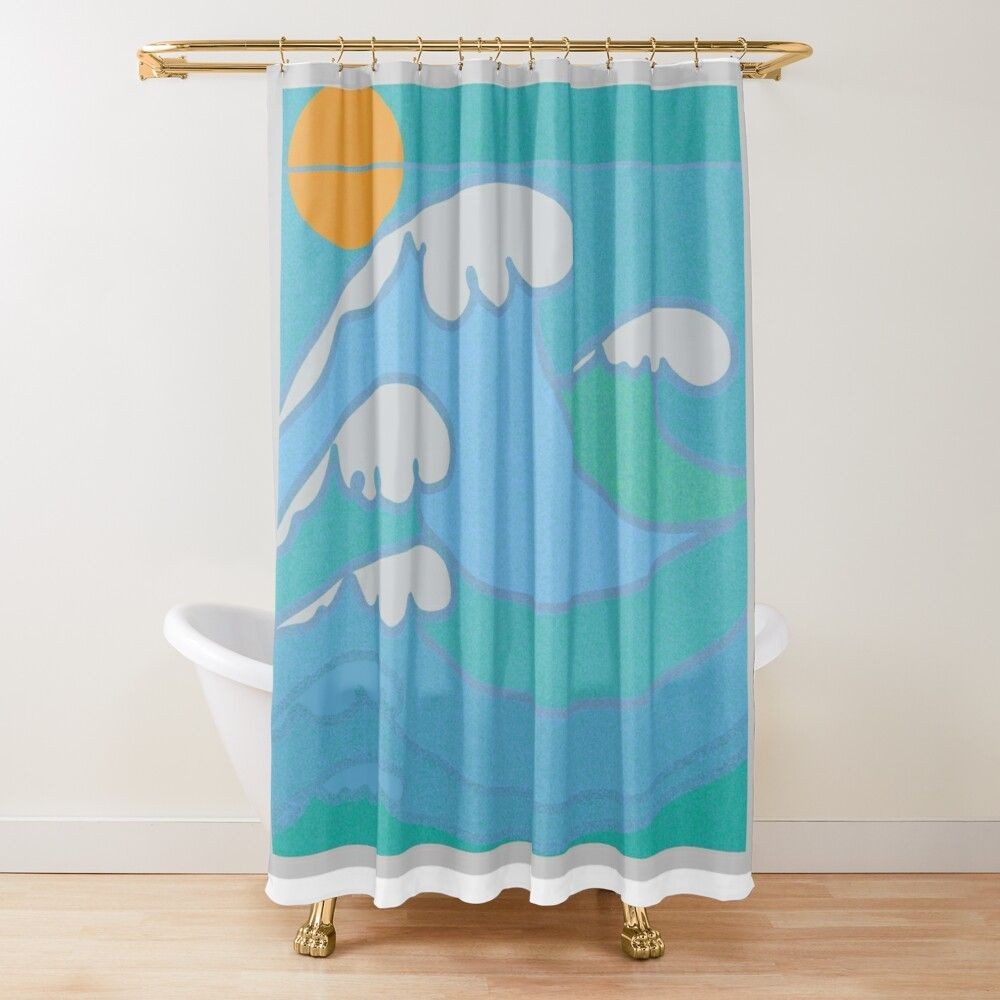 Surf Shower Curtain By Sharonepics In 2020 Shower Curtain Shower Curtains