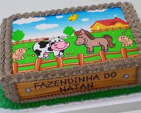 Bolo Fazendinha Papel Arroz Cumpleaños De Animales Tortas De Cumpleaños De Granja Pastel De Granja