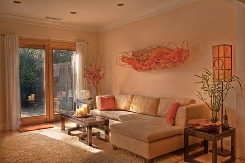 peach living room | home goods | Pinterest | Peach living rooms ...