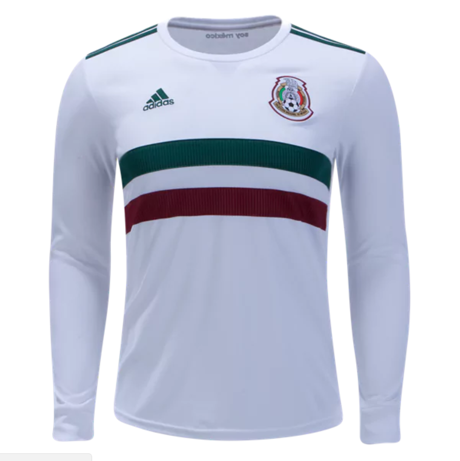 2f21b3cdc Mexico 2018 World Cup Away Men Long Sleeve Soccer Jersey Personalized Name  and Number