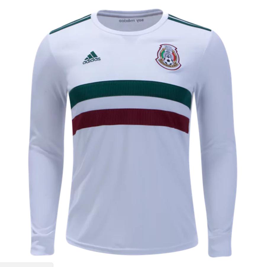 wholesale dealer f9c1b 59185 Mexico 2018 World Cup Away Men Long Sleeve Soccer Jersey ...