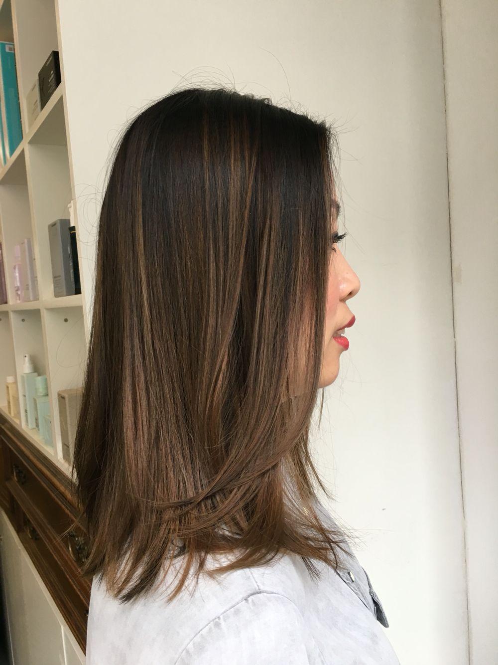 Follow Me On Instagram For More Of My Work Missmary 79 Balayage Balayagehighlights Hair Haircolor A Balayage Straight Hair Hair Color Asian Balayage Hair