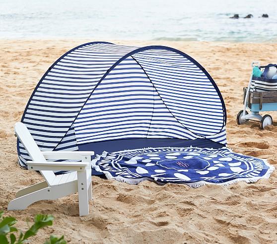 Navy White Stripe Family Pop Up Tent Pop Up Tent Navy