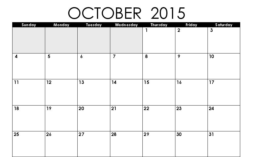 Free Download Calendar October 2015 With Holidays Pictures Images