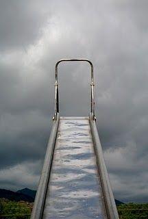 Hot sun on metal slides, but still fun!