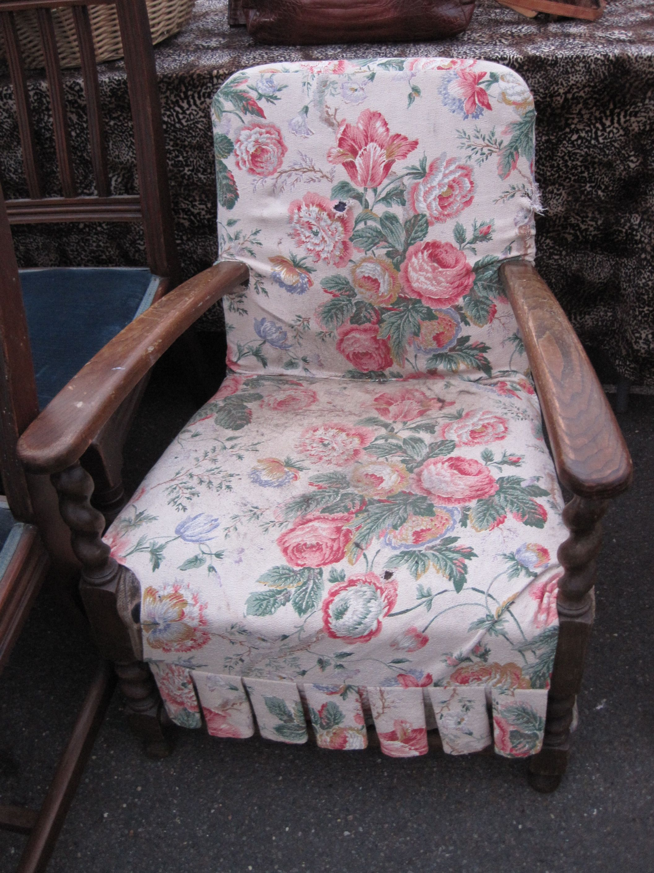 shabby chic sofa bed uk seafoam leather pink floral fabric chair in the pinterest
