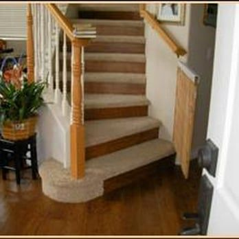 Best Custom Staircase With Carpeted Treads And Wood Flooring 640 x 480