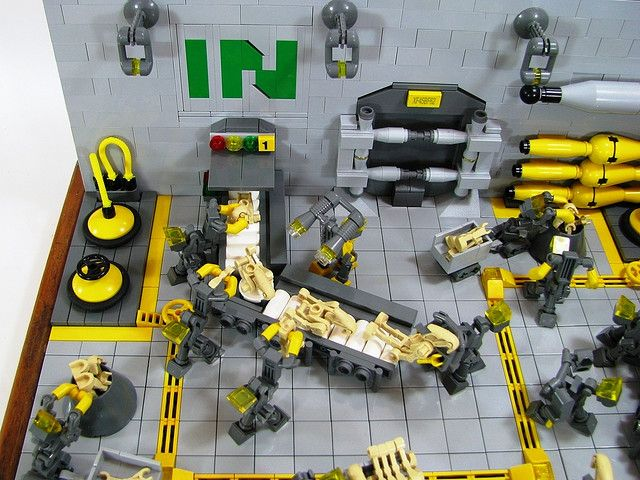 Re-Cycling Factory - In Conveyor belt   Legos and Lego factory