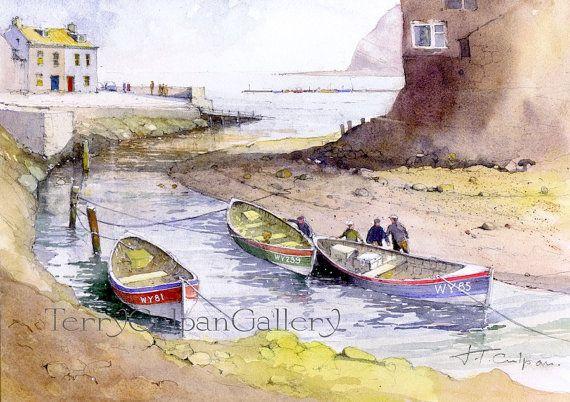 Staithes Roxby Beck Estuary Historic Fishing Village North Yorkshire Fishermen…