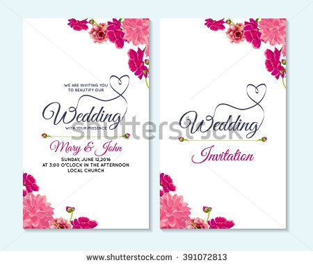 Wedding invitation, thank you card, save the date cards Wedding - baby shower flyer template free