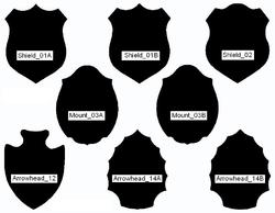 image regarding Printable Deer Plaque Template named Pin through Aurelio Leal upon Deer mounts within just 2019 Deer mounts