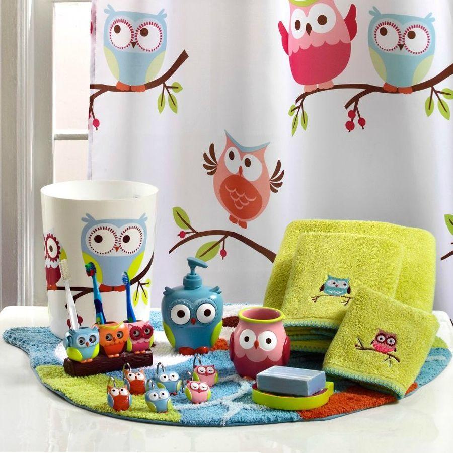 Owl themed bathroom set bathroom decor pinterest toilet and