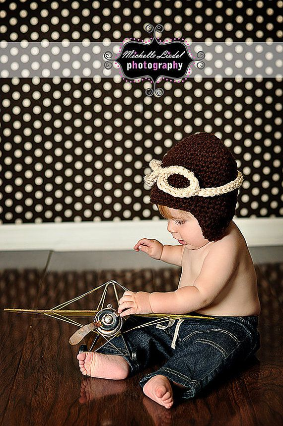36356b08c2f Child. Airplane Clothes. Newborn Photos. Too cute Aviator Hat Aviator Hat