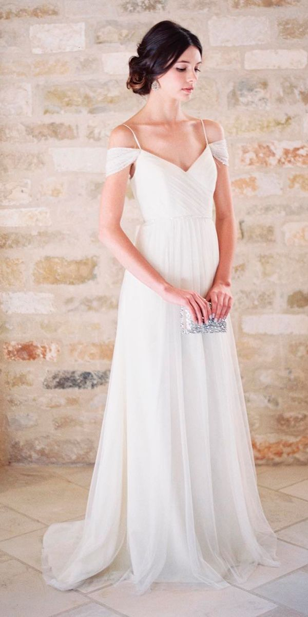 30 Simple Wedding Dresses For Elegant Brides | Pinterest | Simple ...