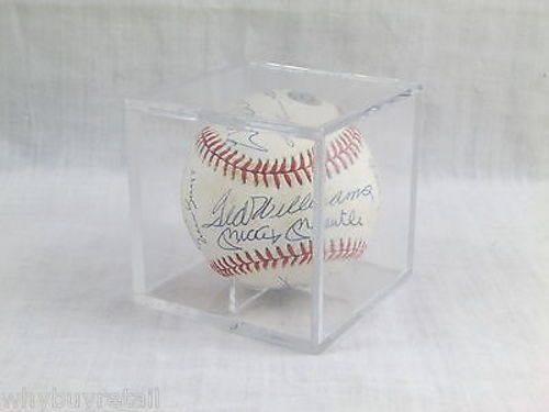 500 Home Run Club Signed Baseball - 11 Autographs - With COA & Case Mantle Mays+