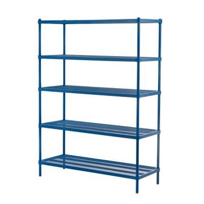 Shelf Metal Petrol Blue Freestanding
