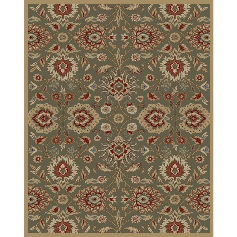 Transitional Preshawar Sage Area Rug