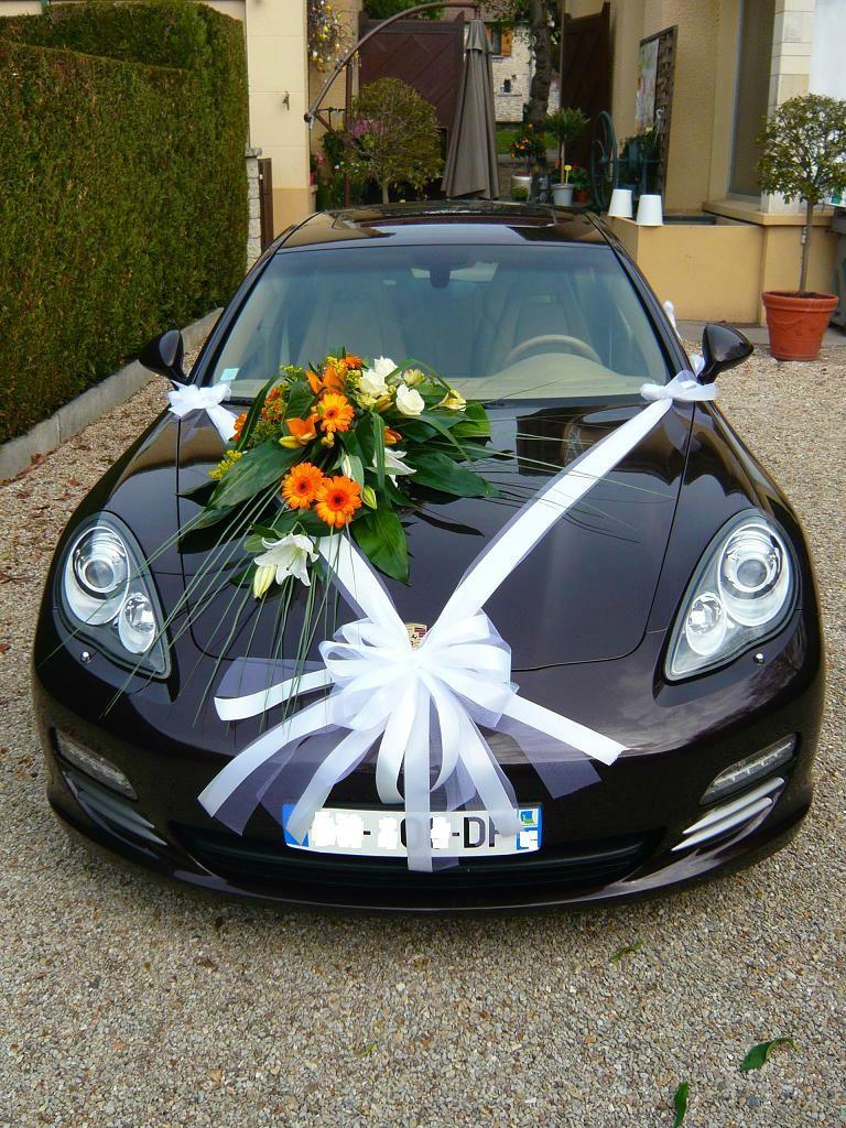 n ud pour la voiture mariage deco voiture mariage voiture mariee et voiture mariage. Black Bedroom Furniture Sets. Home Design Ideas