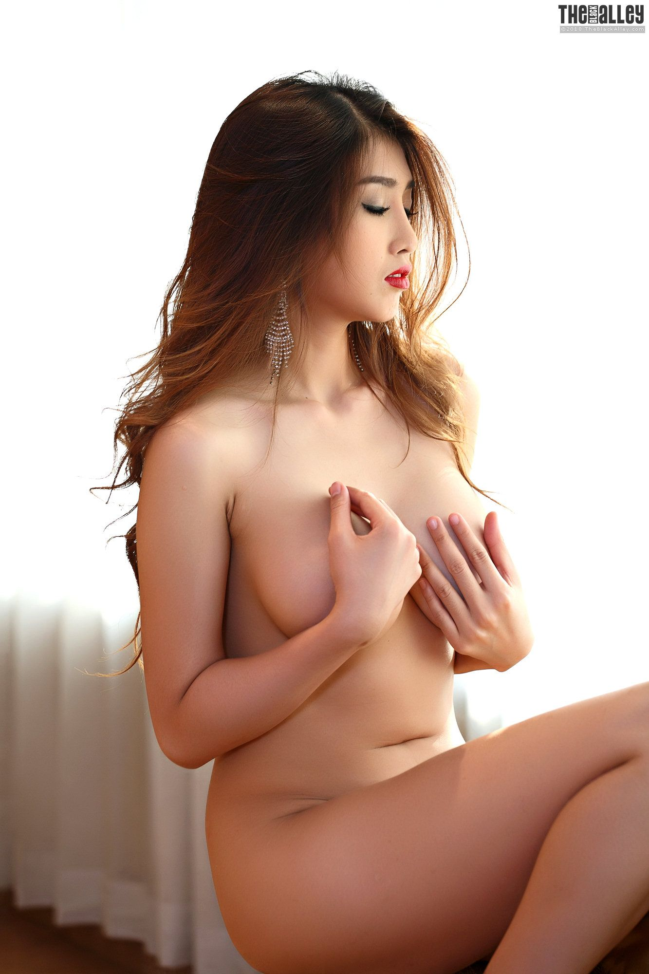 Asians black alley nude