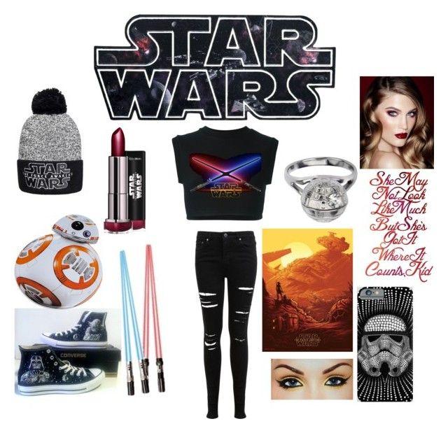 """Star Wars"" by emotionssuck on Polyvore featuring Converse, adidas Originals, ThinkGeek, Episode, Miss Selfridge and Charlotte Tilbury"