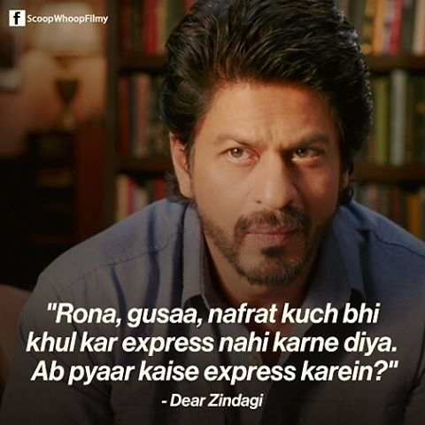 Ae Dil Hai Mushkil Shahrukh Khan Dialogue In English Watch Dearzindagi This Weekend Bollywood Shahrukhkhan Srk Aliabhatt Scoopwhoop Swfilmy Movie Quotes Inspirational Bollywood Quotes Filmy Quotes