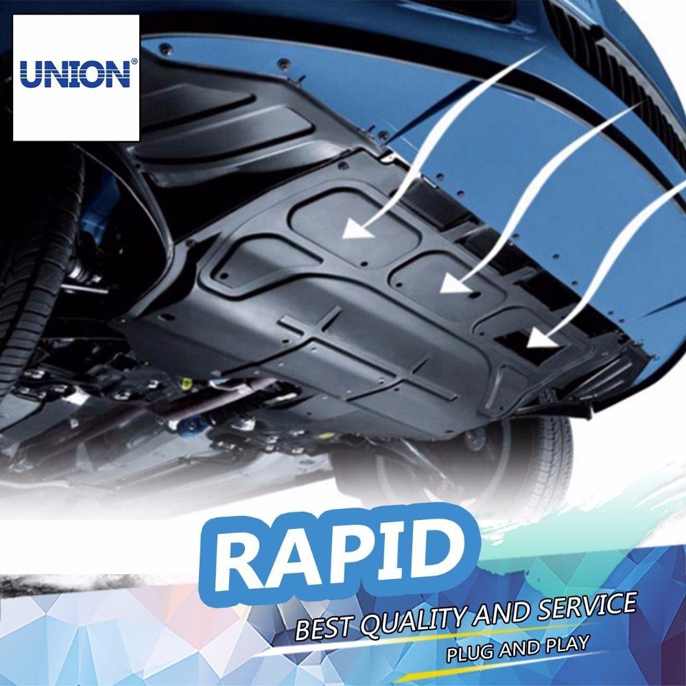 Union Car Styling For Skoda Rapid Plastic Engine Guard 2013 2015