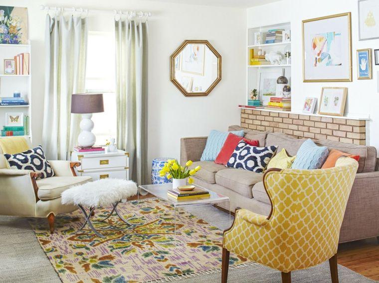 sala de estar con muebles estilo vintage interiores de Salones