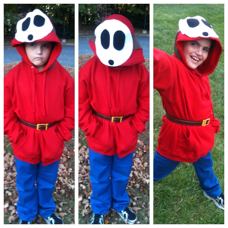 homemade shy guy costume halloween costume mario brothers mario bros - Halloween Costume For Brothers