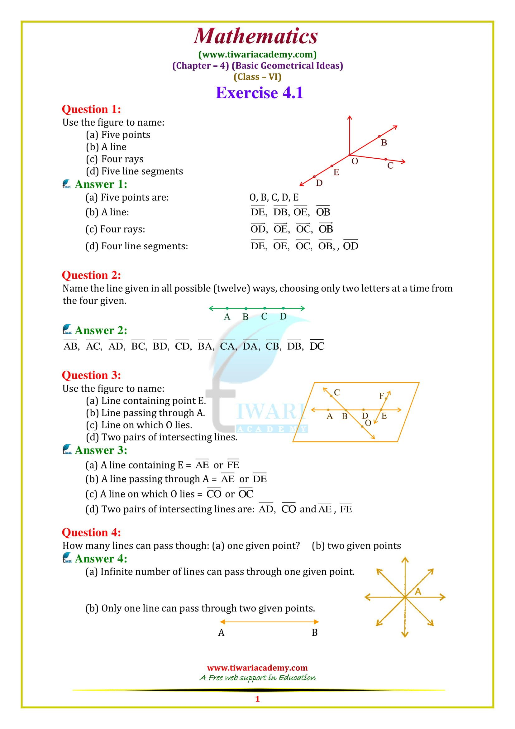 4 Maths Worksheet For Class 6 In
