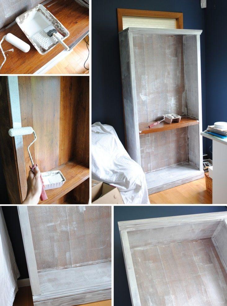 C mo pintar muebles laminados o enchapados restaurar for Cocina con muebles antiguos