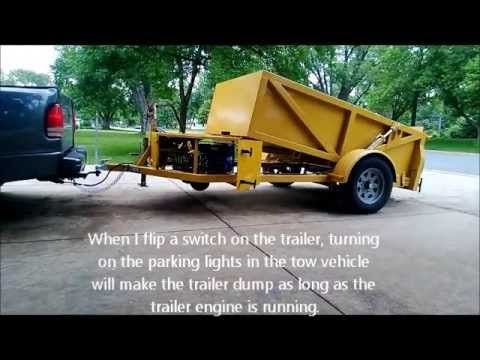 Gas Powered Self Propelled Dump Trailer Youtube Dump Trailers Work Trailer