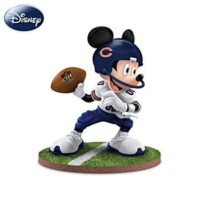 "Mickey Mouse Chicago Bears ""Quarterback Hero"" Figurine #Bears"
