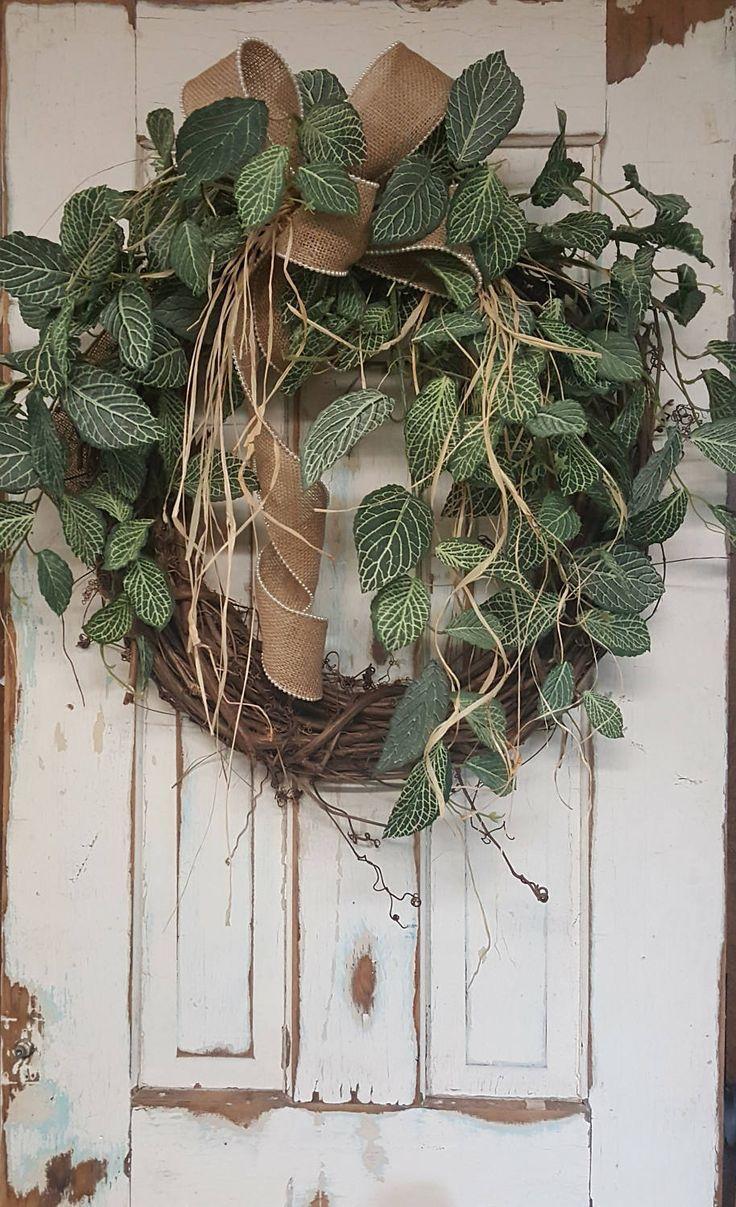 Front Door Wreaths, Wreath Door Hangers, Burlap Wreath, Wedding Wreath, Year  Round