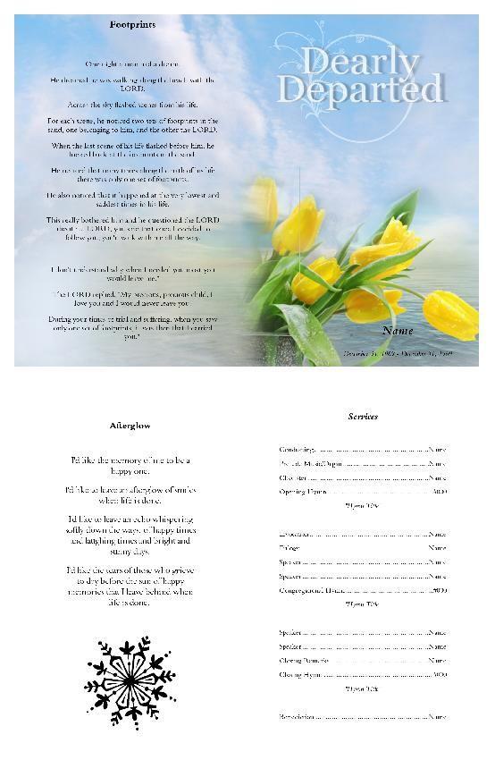 Create beautiful loving memory funeral programs using our word - funeral program word template