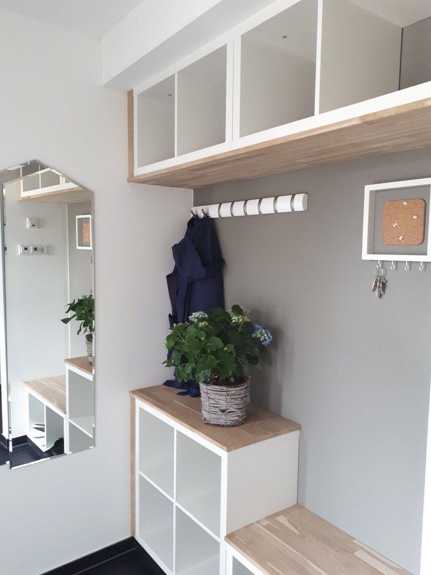Garderobe Aus Kallax Regalen Ikea Ideen Wohnung