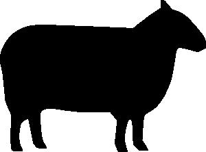 Sheep Silhouette clip art - vector clip art online ...