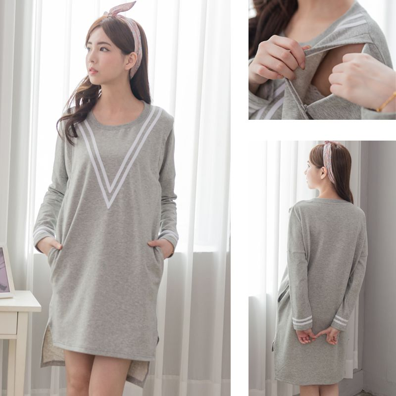 39b55d12fb2 Maternity Colthes Long sleeve Nursing Dress Breastfeeding Hoodie Casual  Sporty style Maternity Sweater for Pregnant Women
