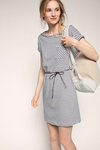 Esprit - Kleid aus dichtem Jersey, 100% Baumwolle im ...