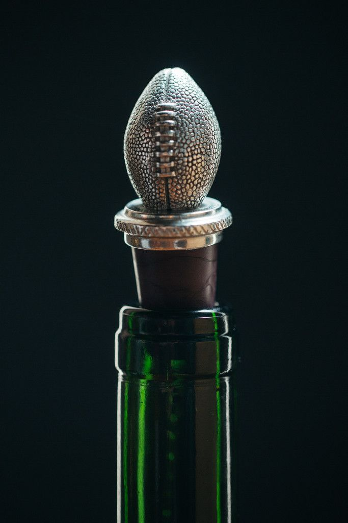 Stopper Wine Pewter stoppers Wine  Football | Handcrafted