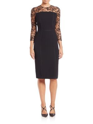 e7260a0ee49 Shoshanna - Beaux Guipure Lace Sheath Dress - Saks.com