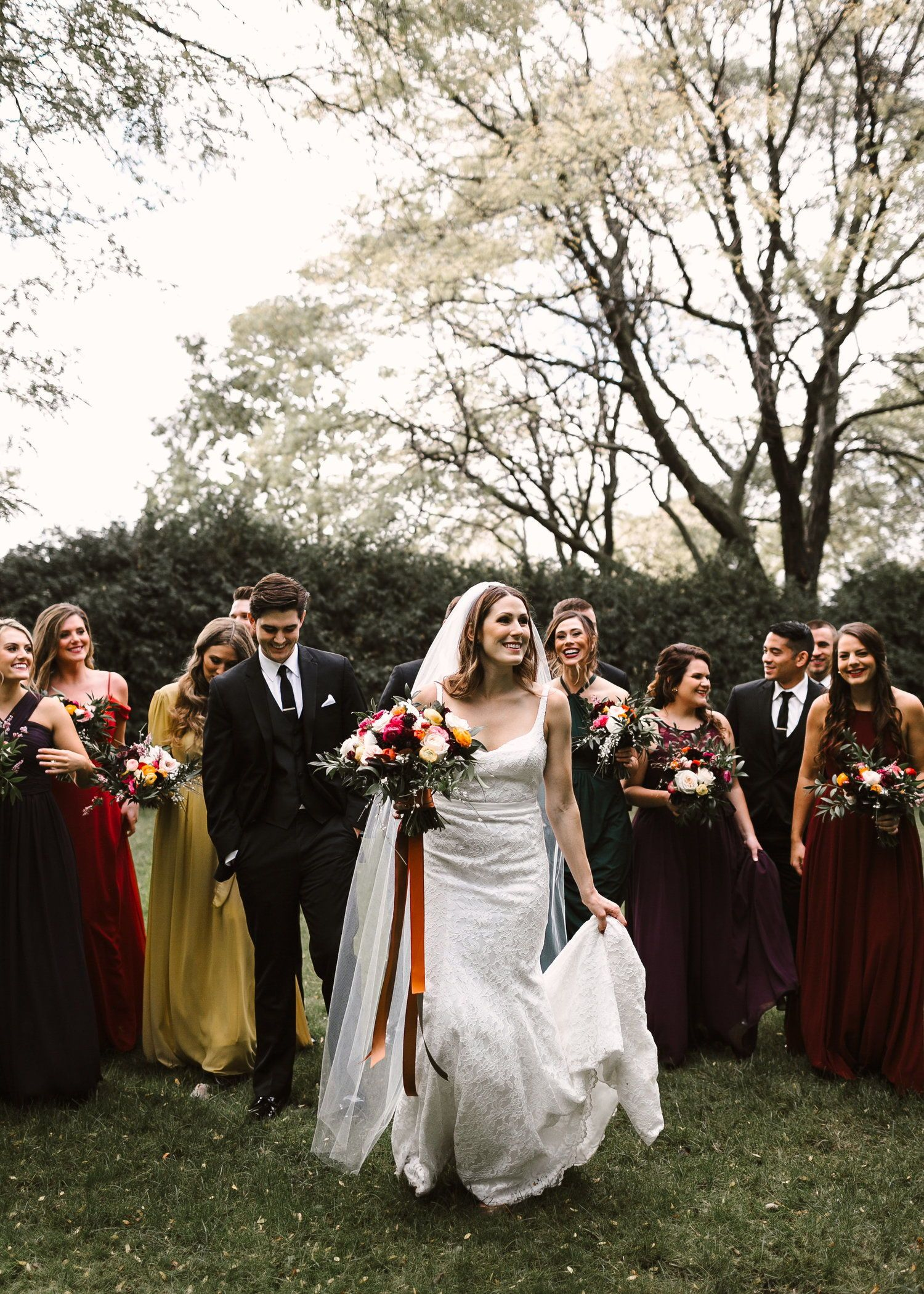 Fall outdoor wedding dresses  Real Wedding Alexandra  Jared  Fresh  Cozy Minnesota Wedding