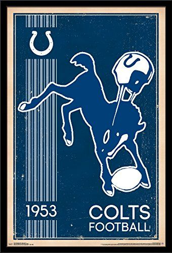 Trends International Wall Poster Indianapolis Colts Retro Logo 22375 ...