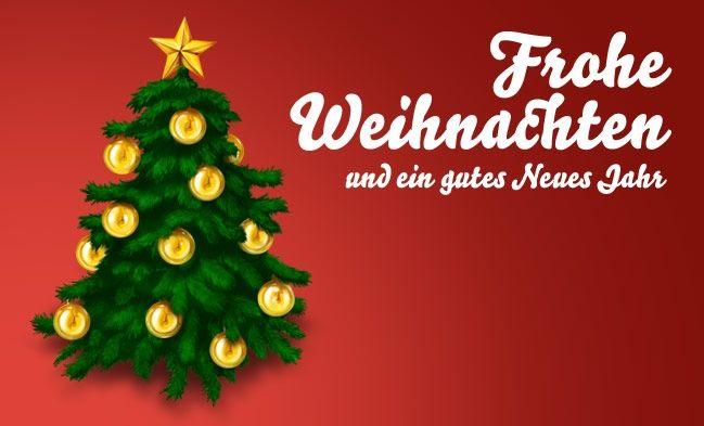 Ich wunsche dir frohe weihnachten und guten rutsch
