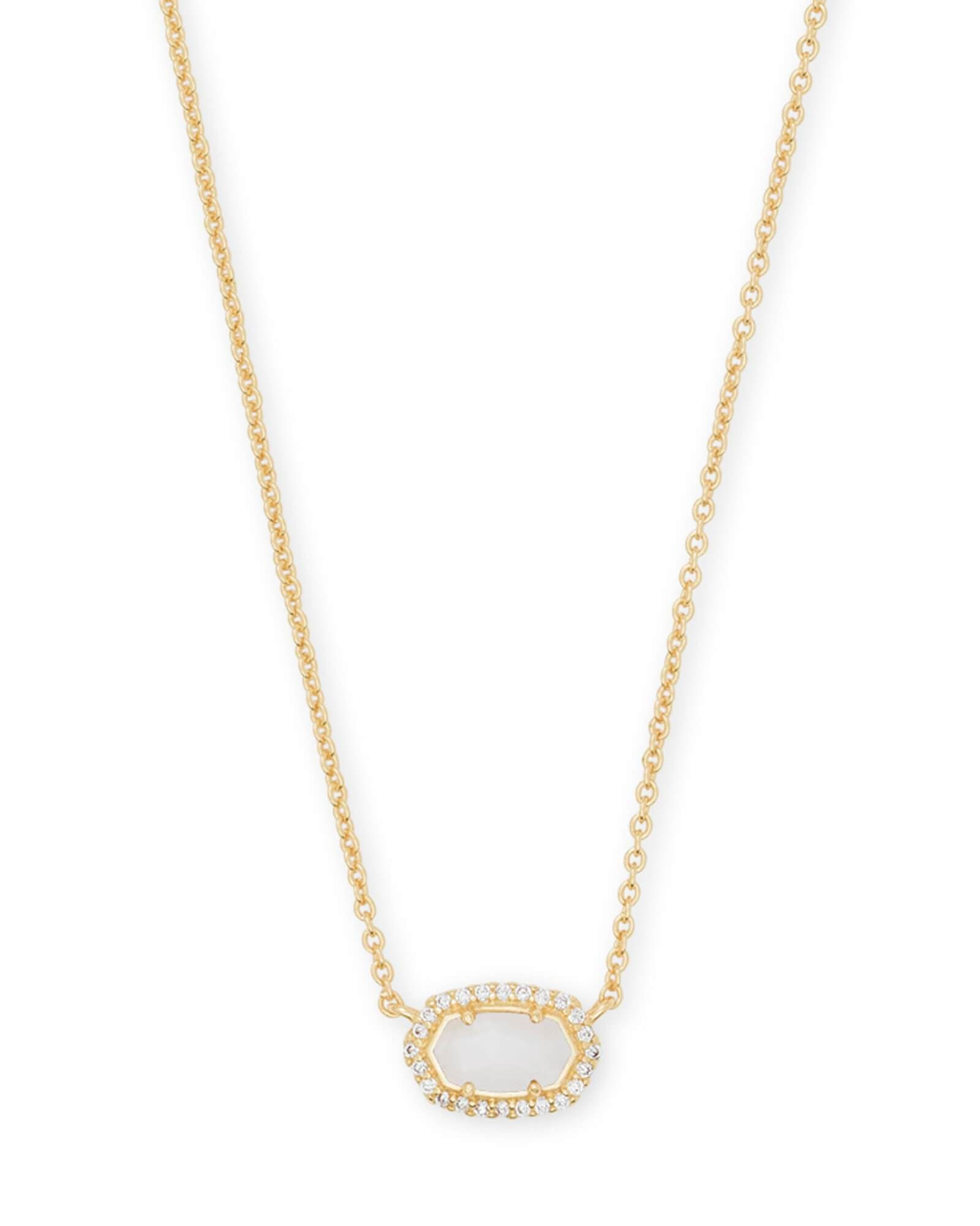 Kendra scott chelsea gold pendant necklace in white pearl products