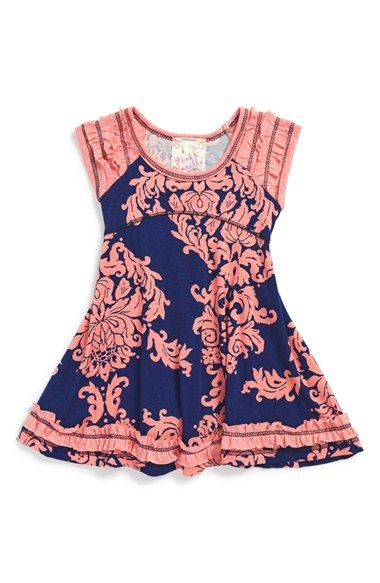 Pink Vanilla Ruffle Print Skater Dress (Baby Girls) available at  Nordstrom 2642f562de4