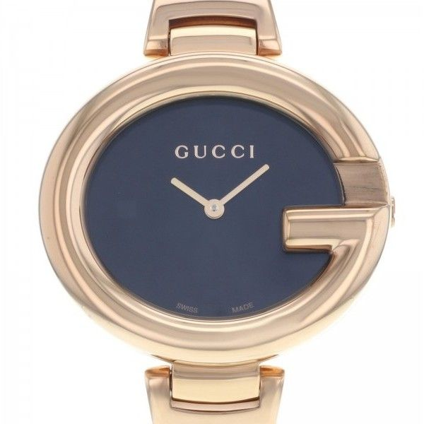 1362b2542f9 Pre-owned Gucci Guccissima YA134305 Rose Gold PVD Quartz Ladies Watch  (38.995 ISK)