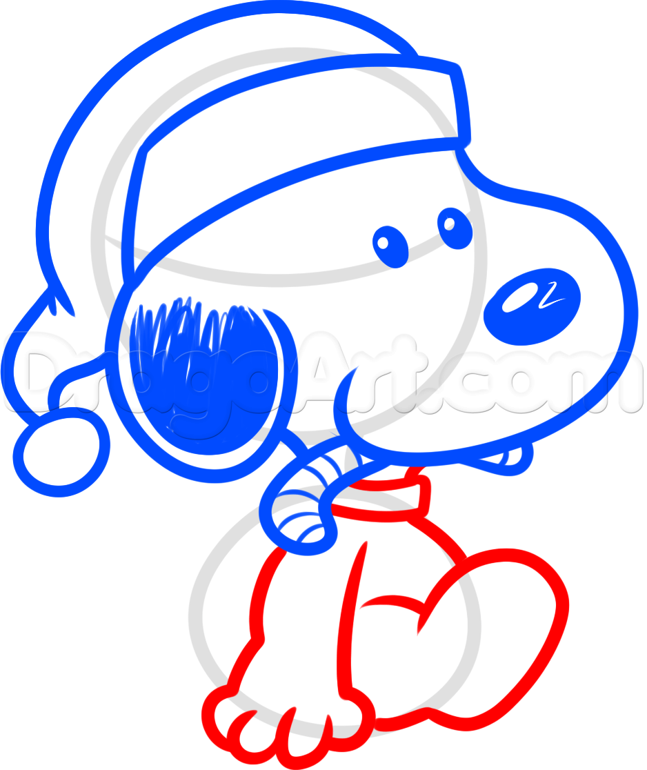 How To Draw Christmas Snoopy by Dawn Snoopy drawing