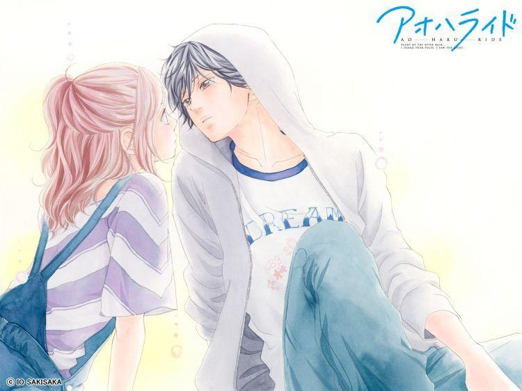 Fonds D Ecran Manga Fonds D Ecran Ao Haru Ride Blue Ride Spring Wallpaper N 387516 Par Kiwi119 Hebus Com Couples Dessins Animes Image Manga Couple Manga